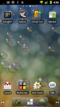Bubbles live wallpaper poster