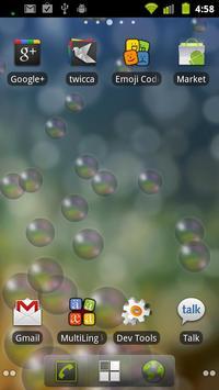Bubbles live wallpaper apk screenshot