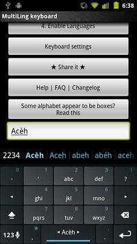 Acèh Keyboard Plugin screenshot 1