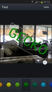 Gecko photo image editor apk screenshot