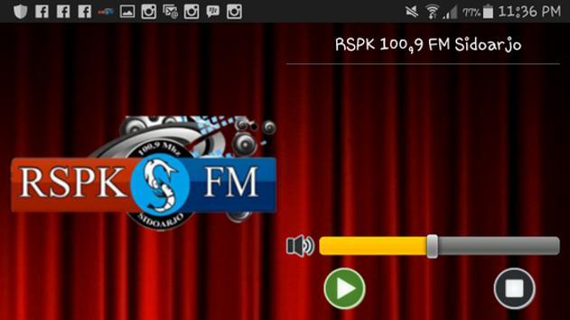 RSPK 100,9 FM Sidoarjo apk screenshot