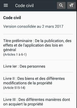 Code civil 2018 (France) poster