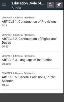 California Education Code apk screenshot