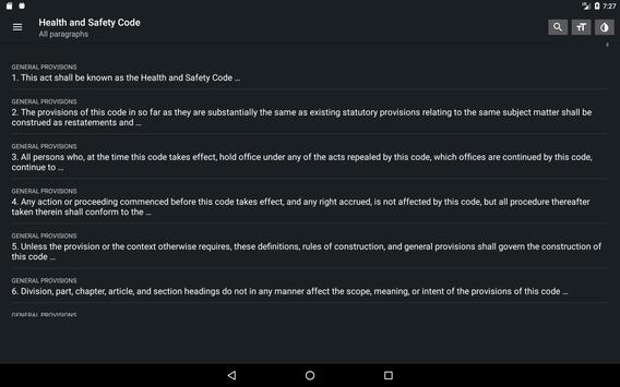 California Health & Safety Code 2019 free offline screenshot 7