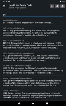 California Health & Safety Code 2019 free offline screenshot 14