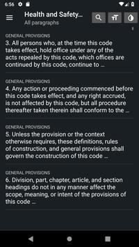 California Health & Safety Code 2019 free offline screenshot 3