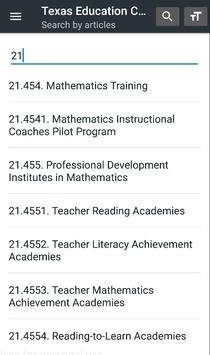 Texas Education Code screenshot 3