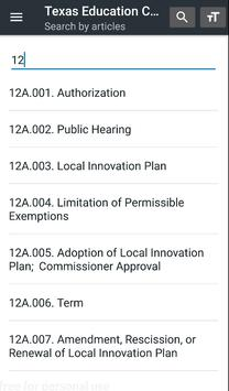 Texas Education Code screenshot 11