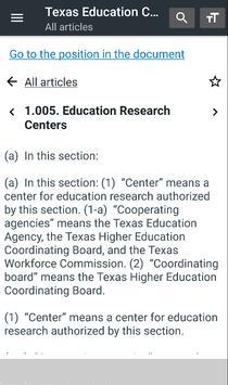 Texas Education Code screenshot 1