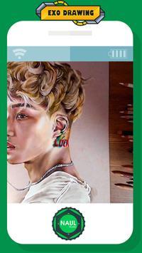 EXO Members Colored Pencil Drawing Kpop poster
