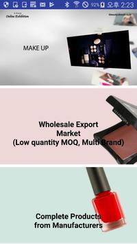 Korea cosmetics B2B export Platform (Kbeauty) poster