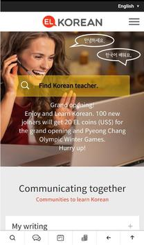 EL KOREAN - Enjoy and Learn Korean with teachers poster
