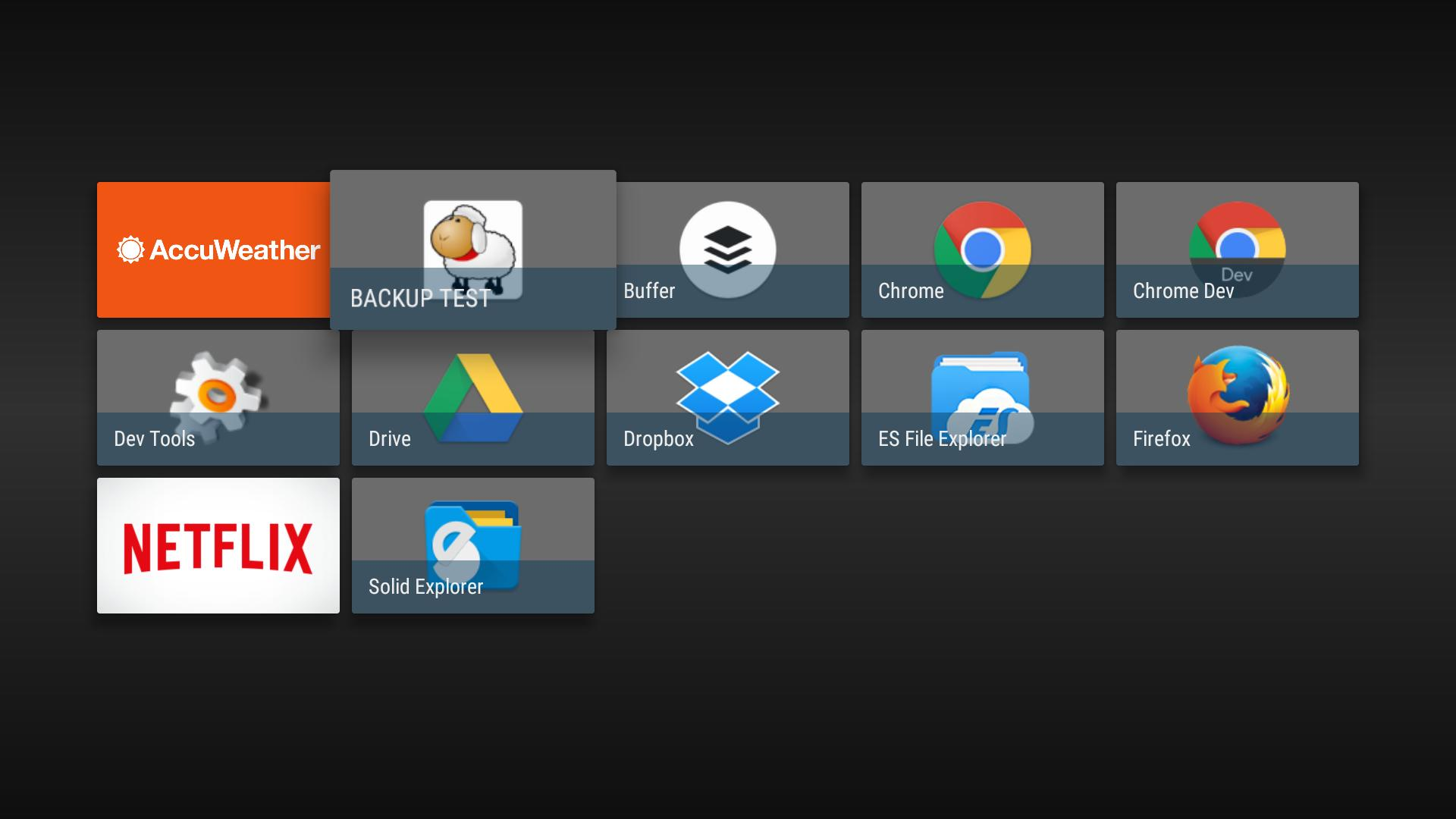 WBS App Drawer - Android TV App Launcher for Android - APK