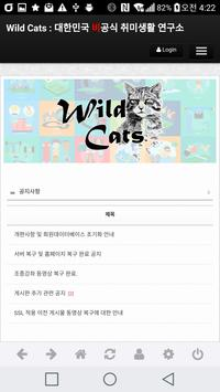 Wild Cats : 대한민국 '비'공식 취미생활 연구소 apk screenshot