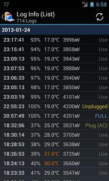 Battery Log apk screenshot