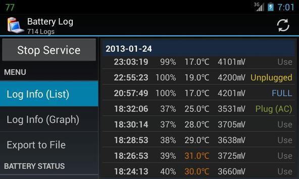Battery Log screenshot 6
