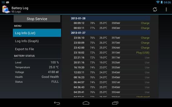 Battery Log screenshot 7