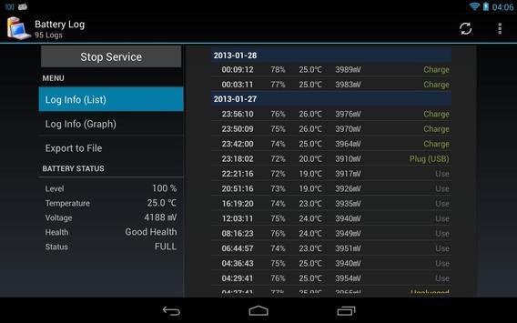 Battery Log screenshot 8