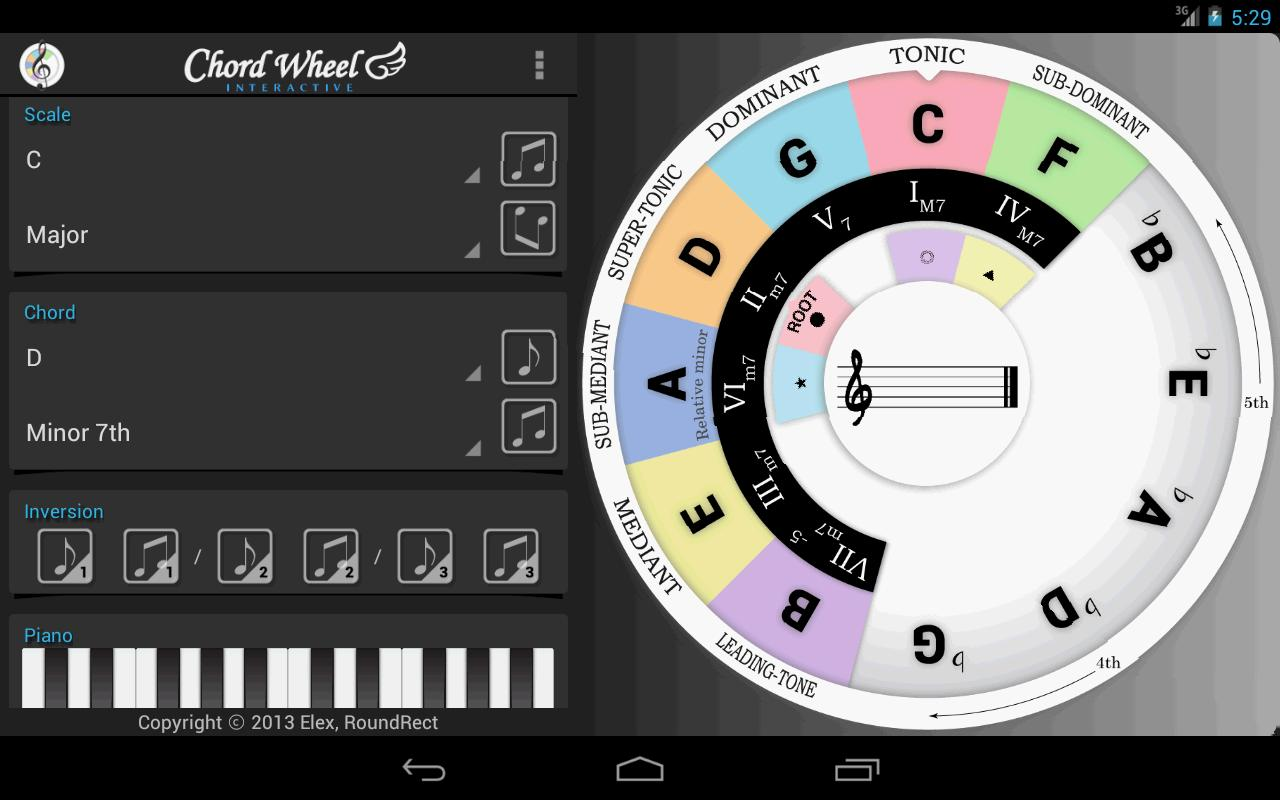Chord Wheel Circle Of 5ths Le Apk Download Free Music Audio App
