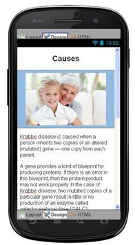 Krabbe Disease & Symptoms apk screenshot