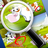 Find differences for children icon