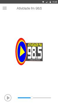 Atividade FM 98.5 poster
