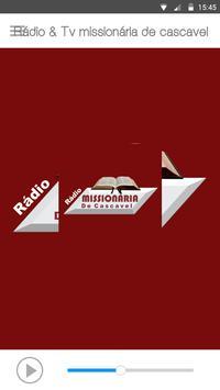 Rádio & Tv Missionária de Cascavel 截图 1