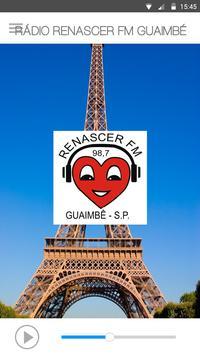 RÁDIO RENASCER FM GUAIMBÉ poster