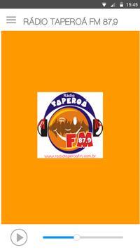 RÁDIO TAPEROÁ FM 87,9 poster