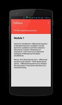 KTU Syllabus apk screenshot