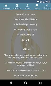 WeddingInvitation apk screenshot