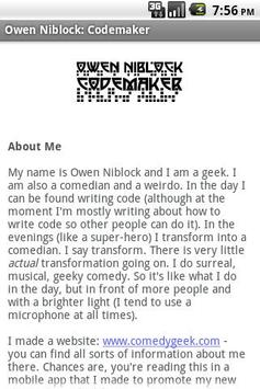 Owen Niblock: Codemaker screenshot 1