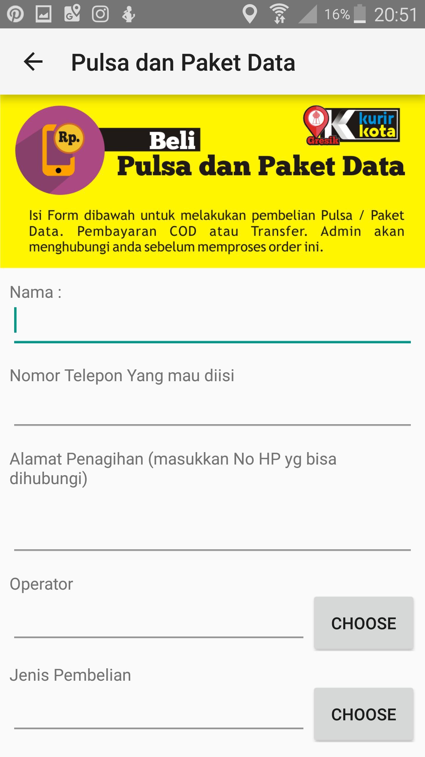 Kurir Kota Gresik For Android Apk Download