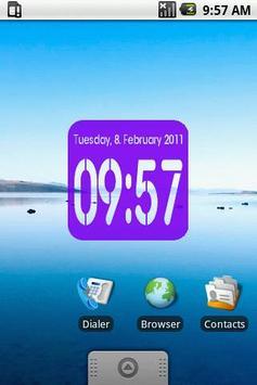 Clock Widget digital 2x2 apk screenshot