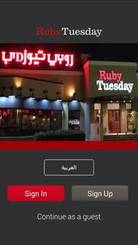 Ruby Tuesday Kuwait poster