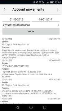Capital Bank Kazakhstan apk screenshot