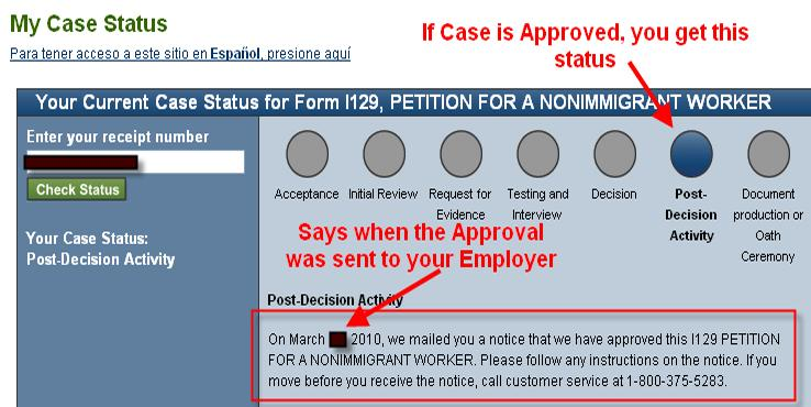 Request for additional evidence was mailed h1b 2019