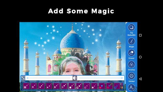 Photo Editor: Taj Mahal Background poster