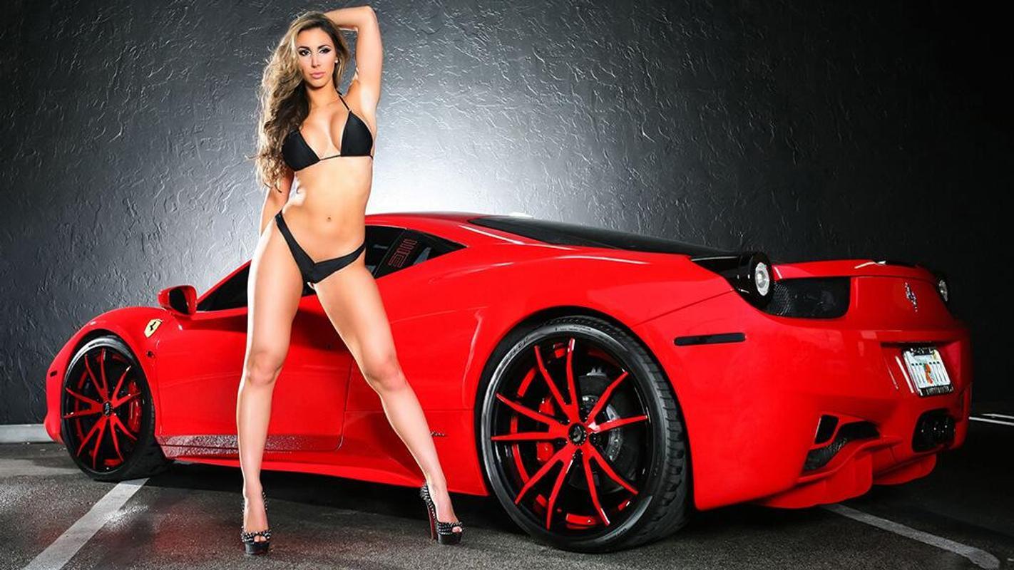 Hot girl hot car 11