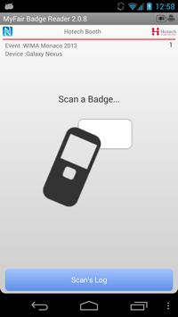 NFC MyFair Badge Reader 스크린샷 1
