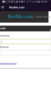 ResMe.com Hotel Partners screenshot 1