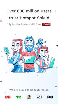 Hotspot Shield Gratis VPN Proxy & Keamanan WiFi poster