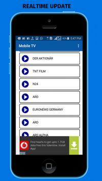 MOBILE TV:ONLINE LIVE HD TV apk screenshot