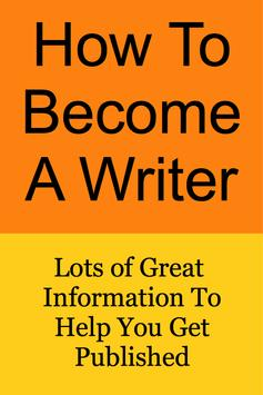 How To Become a Writer poster