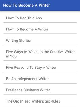 How To Become a Writer screenshot 1