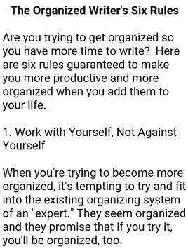 How To Become a Writer screenshot 2
