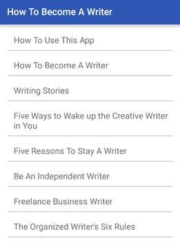 How To Become a Writer screenshot 6