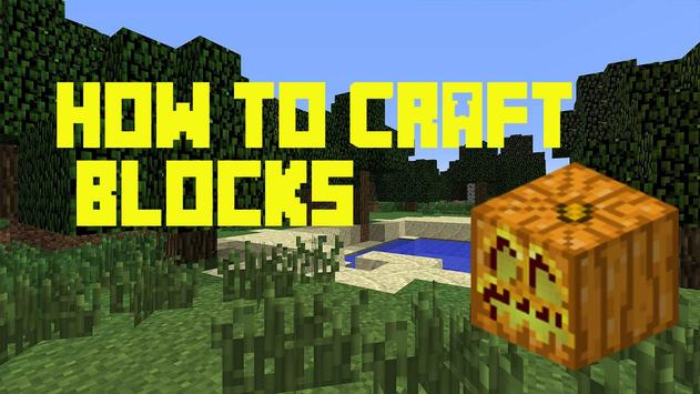 How to craft: Blocks poster