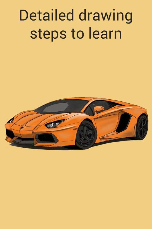 How To Draw A Lamborghini Car Easy Step By Step For Android Apk