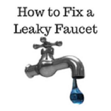 How to fix a leaky faucet poster